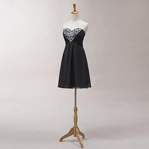Bridal_Mall - Vestido - Sin mangas - para mujer Rosa