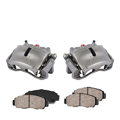 COEK00297 [2] FRONT Premium Loaded OE Caliper Assembly Set + Quiet Low Dust Ceramic Brake - Ford Brake F150 Caliper