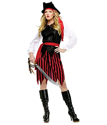 Fun World Women's Caribbean Pirate, Multi S/M Size 2-8