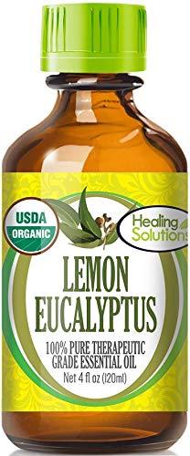 Organic Lemon Eucalyptus Essential Oil (100% Pure - USDA Certified Organic) Best Therapeutic Grade Essential Oil - 120ml