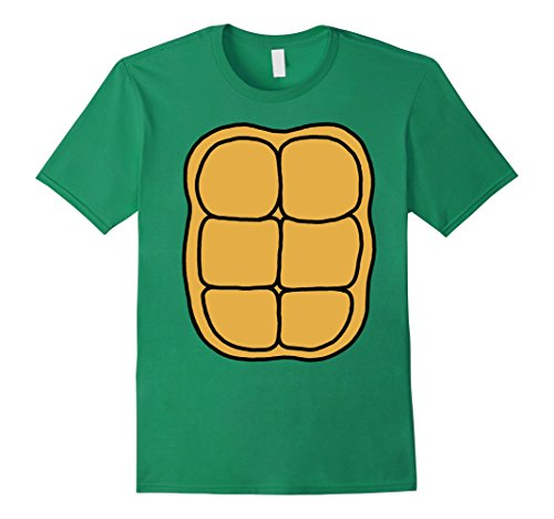 Mens Turtle Shell Shirt KIDS DIY Halloween Costume FRONT + BACK Small Kelly - Costume Turtle Diy