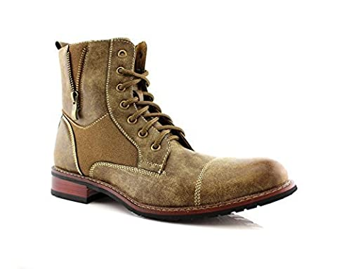 Ferro Aldo MFA-808561 Brown Mens Lace up Military Combat Work Desert Ankle Boot (11) - Footwear Combat Boots