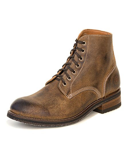 Ranch Road Boots Men's Boondocker Vintage Brown Military Lace-up Goodyear Welted Boot (11) 1.5' Platform Boots