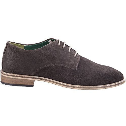 Lambretta Mens Scotts Derby Lace Up Durable Leather Oxford Smart Shoes Dark Brown Suede