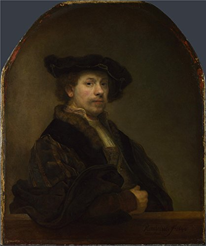 Oil Painting 'Rembrandt-Self Portrait At The Age Of 34,1640', 18 x 22 inch / 46 x 55 cm , on High Definition HD canvas prints is for Gifts And Bar, - Gift Cards Myer Online