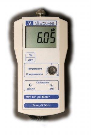 Milwaukee Instruments MW101 Standard Portable pH Meter, 0 DegreeC to 50 Degree C Temperature Range, 0.01 pH Resolution, 143'' Length, 80'' Width, 32'' Height
