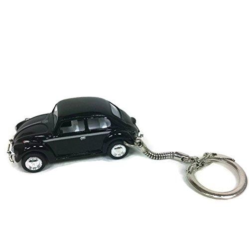 VW Beetle Keychain Vintage Black Beetle (Volkswagen Vintage Beetle)