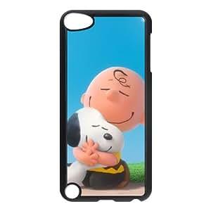 O2Y63 Charlie Brown y Snoopy H3Y2PC funda iPod Touch funda 5 casos cubren PK5BLW7LU negro