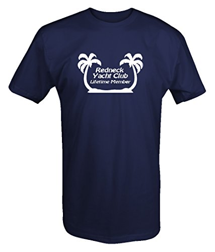 Lifestyle Graphix Redneck Yacht Club Lifetime Member Funny Music Custom T Shirt - 2XL ()