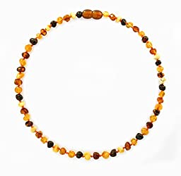 Amber Crown Teething Necklace for Babies, Multi-color