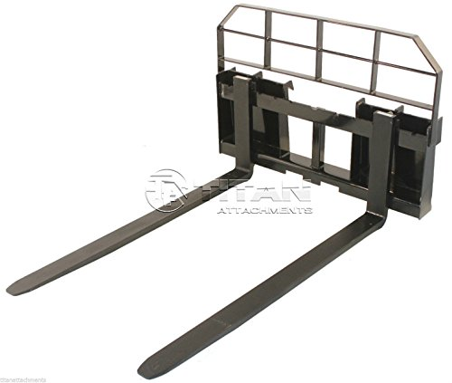 60' Skid Steer HD Pallet Fork Attachment 5500 lb Capacity Quick tach Tractor