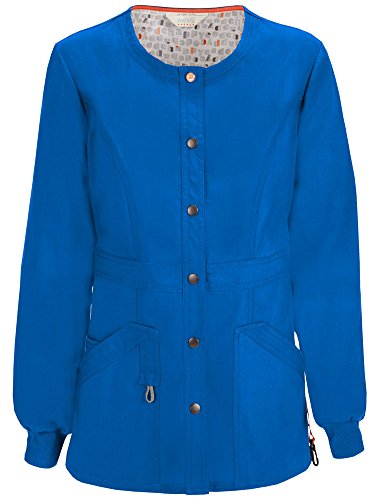 Code Happy Women's Bliss W/Certainty Snap Front Warm-up Jacket, Royal, Small -