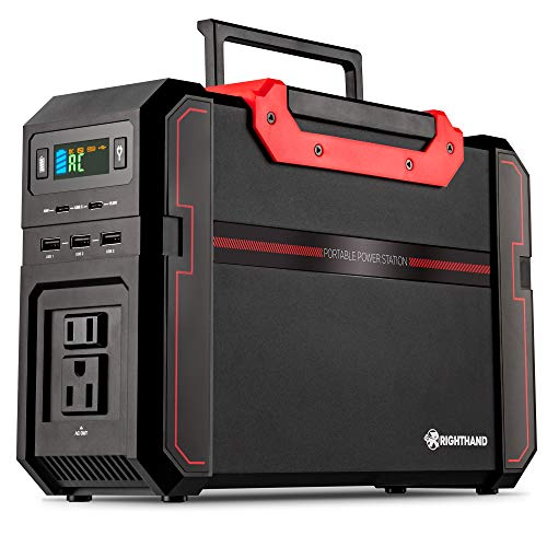 Portable Power Station, 450W Pure Sine Wave Backup Lithium Battery, Dual 110V AC Outlets, 444Wh Solar Generator, 2 USB Type-C, 3 USB-A Ports, 3 DC Ports, for Emergency Camping Outdoors Travel Hunting Uncategorized