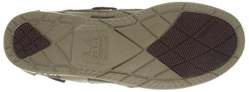Khaki Uomo barca Khaki Beach Line Shoe Crocs da Boat Scarpe M 6TZwqzw