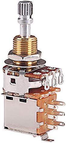 CUHAWUDBA A500K PotencióMetro Push Pull Switch Splined Dpdt Pot ...