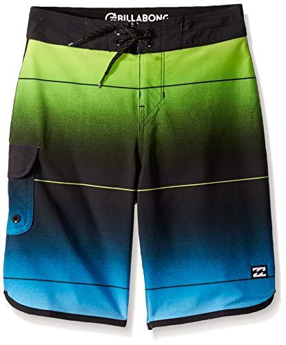 - Billabong Boys' 73 Stripe Pro Boardshorts Neo Green 24