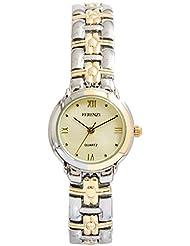 Ferenzi Women's | Small Face Two-Tone Link Bracelet Watch | FZ14601
