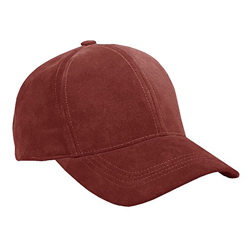 - Emstate Suede Leather Unisex Baseball Caps Various Colors Made in USA (Burgundy)