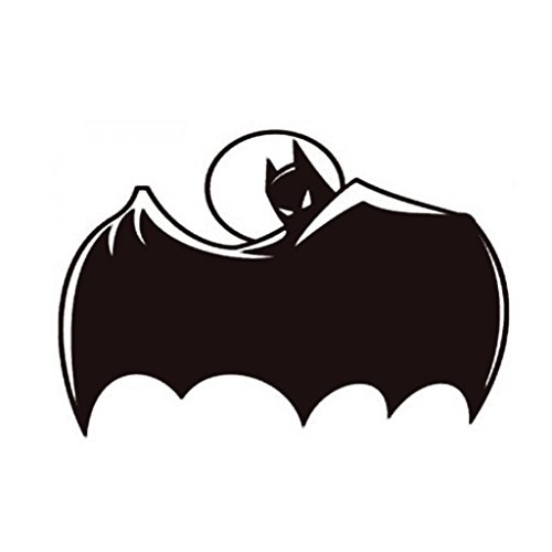 Batman Begins Costume Vs Dark Knight (Batman Retro Vinyl Decal Sticker | Car Truck Wall Laptop | White | 5.5 Inch | KCD236)