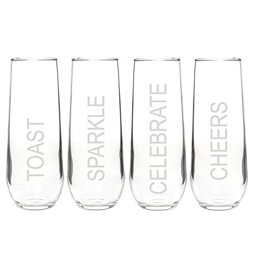 Cathy's Concepts Celebrate Stemless Champagne Flutes, Set of 4 Review