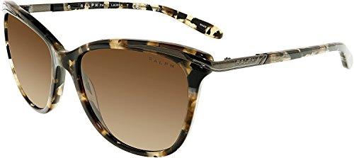 Ralph RA5203 146213 Marble / Dark Brown RA5203 Cats Eyes Sunglasses Lens - Ralph Cat Sunglasses Lauren Eye