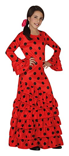 Atosa 26531 – Flamenco, Rouge, Taille 116 – Rouge/Noir Taille 116 - Rouge/Noir
