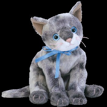 c741a9e9858 Image Unavailable. Image not available for. Color  TY Beanie Baby - FRISCO  the Gray Cat