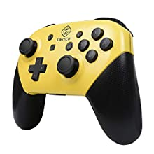 Yeegewin Replacement Shell Case for Switch Pro Controller, Colorful Anti-Slip Hand Grip Shell Cover Super Switch DIY Faceplate and Backplate Case (Yellow)