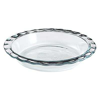 "World Kitchen-pyrex/corelle 1085800 ""Pyrex Easy Grab"" Glass Pie Plate - 9.5"""