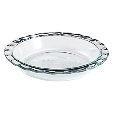 Pyrex Easy Grab 9.5  Glass Pie Plate (Pack of 3)