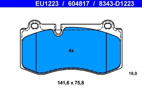 Scheibenbremse ATE 13.0460-4817.2 Bremsbelagsatz