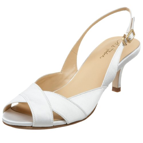 Ceci Air (Cole Haan Women's Ceci Air Low Sling Sandal,White Satin,8.5 B US)