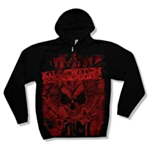 "Bravado Adult Killswitch Engage ""Splatter Skull A/O"" Black Zip Hoodie Sweatshirt"
