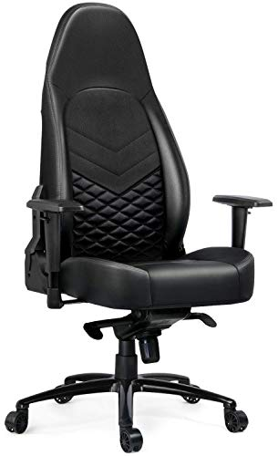 Gtracing-Big-and-Tall-350lb-Gaming-Chair-Luxury-Series-Computer-Desk-Chair-Premium-Pu-Leather-Ergonomic-Cold-Foam-Upholstery-Racing-Design-Black