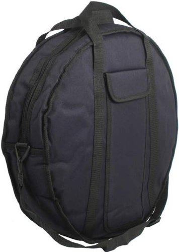 Ashbury Cases & Bags 16DJ-6P11S-8DKV Deluxe 16 inch Bodhran Bag - Black by Ashbury