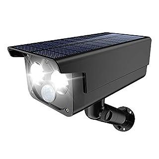 Solar Lights Outdoor, 2 LEDs & 3 Modes Solar Landscape Lights Waterproof 2-in-1 Wireless Outdoor Solar Security Lights 180° Adjustable Solar Motion Lights for Patio Deck Yard Garden Driveway Pool
