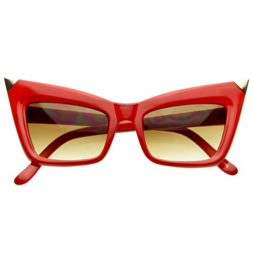 Super Cateye NYC Designer Inspired Fashion Cat Eye Sharp High-Pointed Sunglasses ()