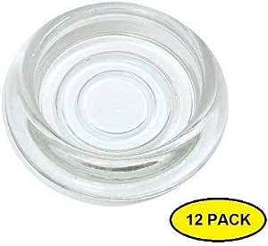 Castor Cups Meubles Protecteur De Plancher Glisse Plastique Transparent 44 mm Pack de 8