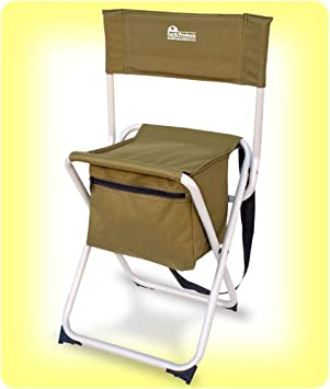 Earth Products Take It Anywhere Compact Outdoor Fishing Chair with Storage Pocket