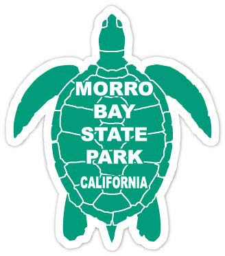 (R and R Imports Morro Bay State Park California Souvenir 4 Inch Green Turtle Shape Decal Sticke)