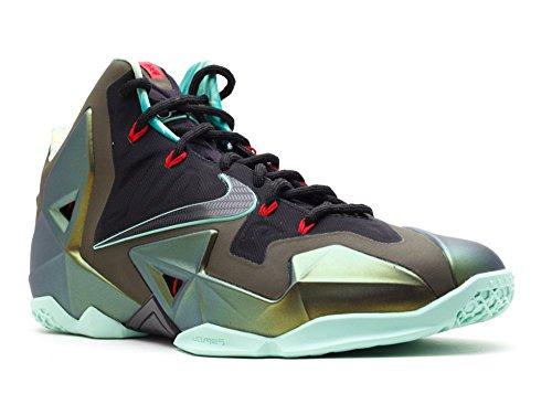 Nike Heren Lebron Xi Basketbalschoen Parachute Goud / Poolachtig Groen-donker Loden-zwart