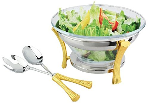 Gold Two Tone Design NG830 salad-server-sets, Gold Two Tone by Gold Two Tone Design