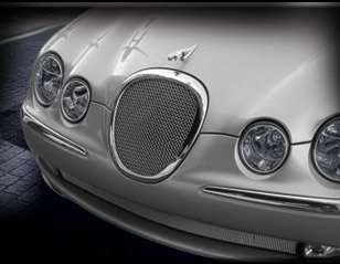 Jaguar S-Type Mesh Grille PKG Upper Insert and Lower Bumper Mesh 1999 - 2004 Bright Stainless or Black by Mina Gallery