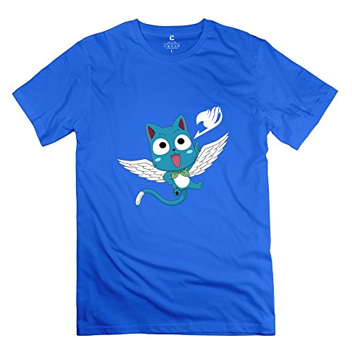 Happy Tails Shampoo (Jiaso Men's Funny Fairy Tail Anime Aye Sir T-shirt RoyalBlue Large)