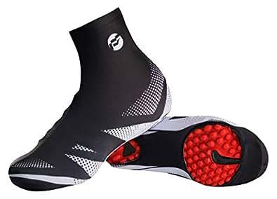 Cubre Zapatos de Bicicleta, Vaxiuja Cubrezapatos Térmico Impermeable A Prueba de Viento Chanclos Protector MTB Bicicleta de MontañaCubiertas Reflectantes de ...