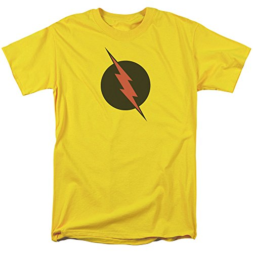 (Justice League Of America DC Comics Reverse Flash Black Logo Adult T-Shirt Medium)