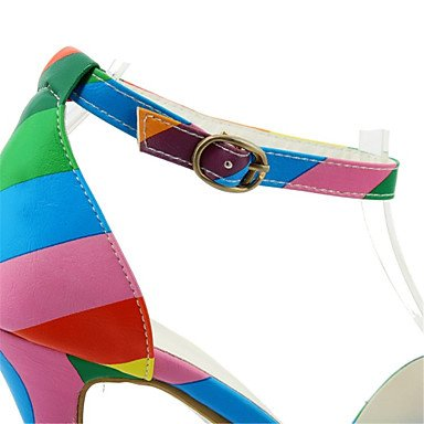 Informal Materiales Oficina Zapatos Black Personalizados y Terciopelo Blanco Tacón LvYuan Negro Stiletto Semicuero Trabajo del Sandalias Vestido club 7vvw1B