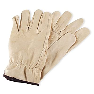 Mens Cowhide Leather Work Gloves by Wells Lamont - Y0135 - Small