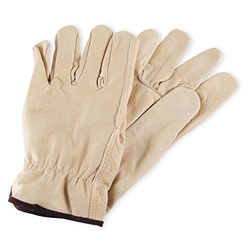 Mens Cowhide Leather Work Gloves by Wells Lamont - Y0135 - - Glove Lamont Corp Cowhide Wells