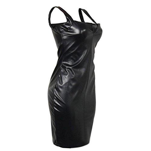 Sans Jupe Noir Dames XL Bodycon Soire Mini Robe Femmes Noir Courte Chaud Mode Yanhoo Manches Dress A1nwtUqaF